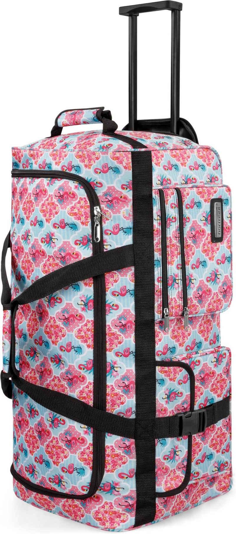 normani Reisetasche »Reisetasche mit 3 Rollen 80 Liter«, Trolley mit leichtläufigen Rollen