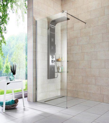 welltime Duschwand »Duschabtrennung«, Sicherheitsglas, Breite 90 cm
