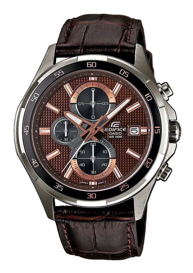 "Casio Edifice, Chronograph, ""EFR-531L-5AVUEF"" in braun"