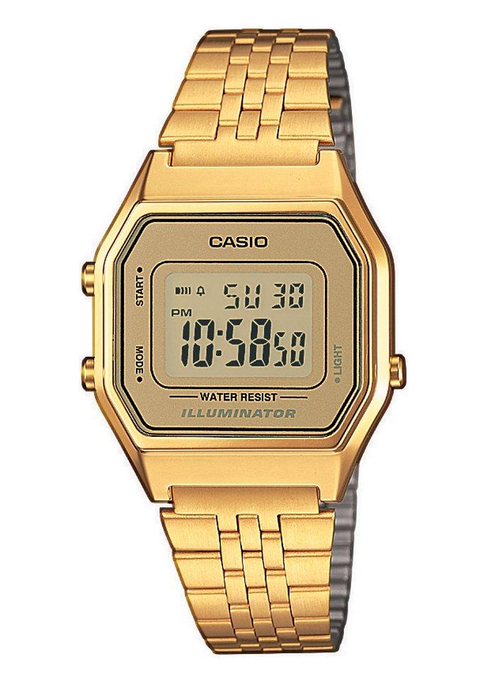 Casio Collection Chronograph »LA680WEGA-9ER« in goldfarben