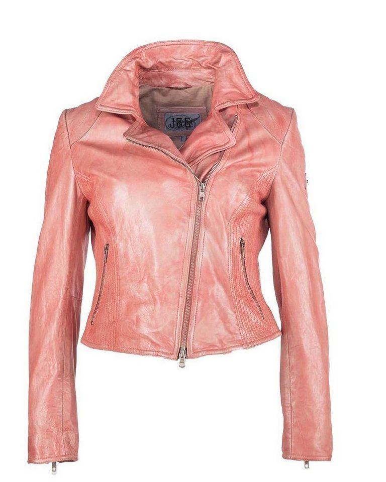 JCC Lederjacke, Damen »FBW1« in rosa