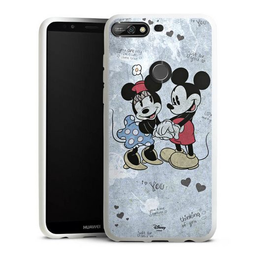 DeinDesign Handyhülle »Mickey&Minnie In Love« Huawei Y7 (2018), Hülle Offizielles Lizenzprodukt Minnie Mouse Mickey Mouse