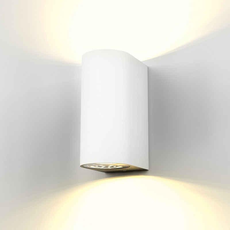 B.K.Licht LED Außen-Wandleuchte »Volans«, LED Außenleuchte Wandlampe Spritzwasserschutz inkl. 5W 400 Lumen GU10 Weiß IP44