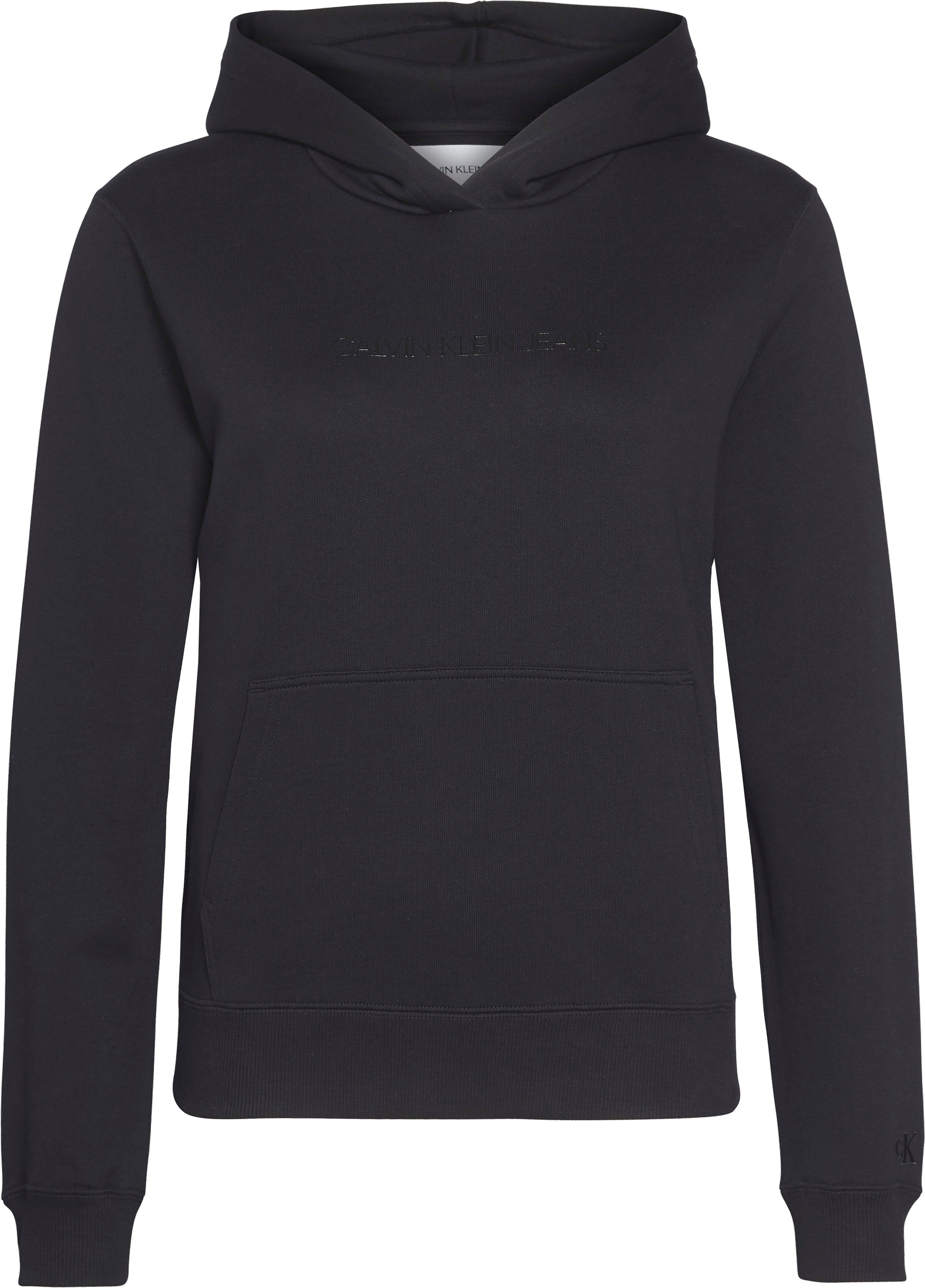 Calvin Klein Jeans Kapuzensweatshirt »SHRUNKEN INSTITUTIONAL HOODIE« mit Calvin Klein Jeans Schriftzug Ton in Ton online kaufen | OTTO