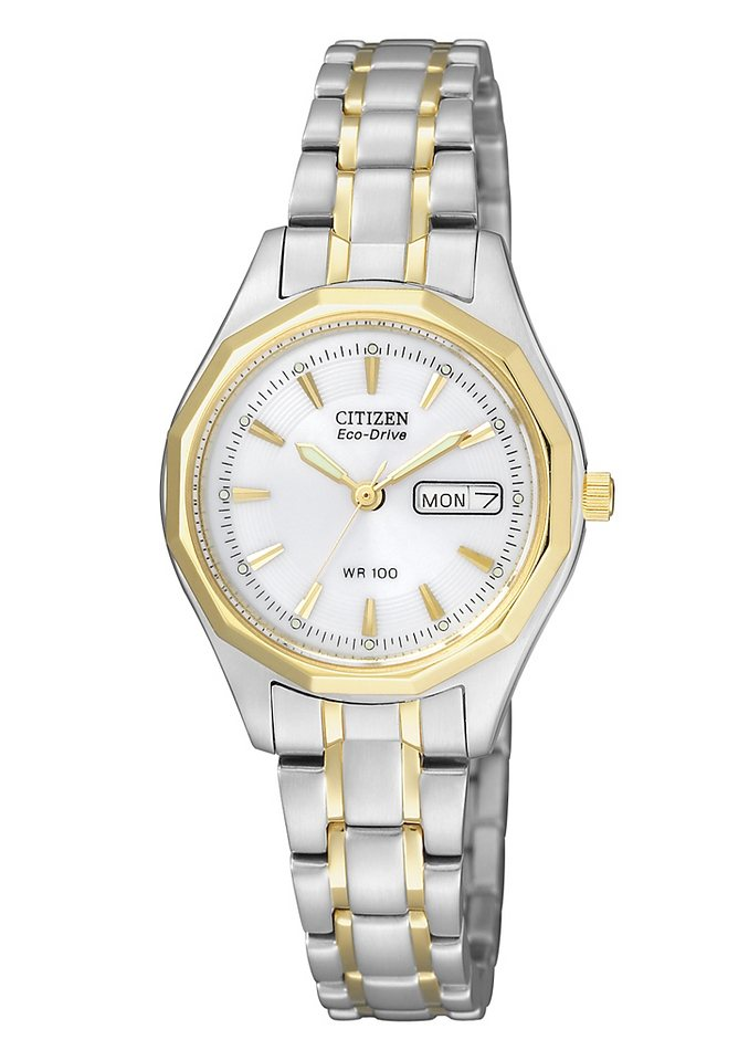 Citizen Quarzuhr »EW3144-51AE« in silberfarben-goldfarben