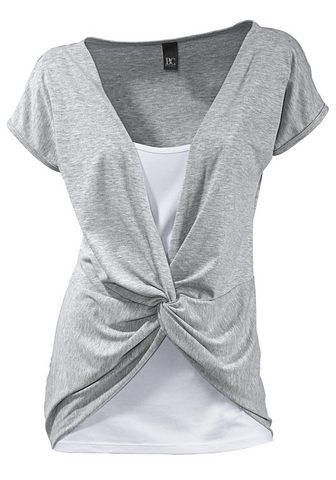HEINE CASUAL футболка 2 в 1 с с драпировкой