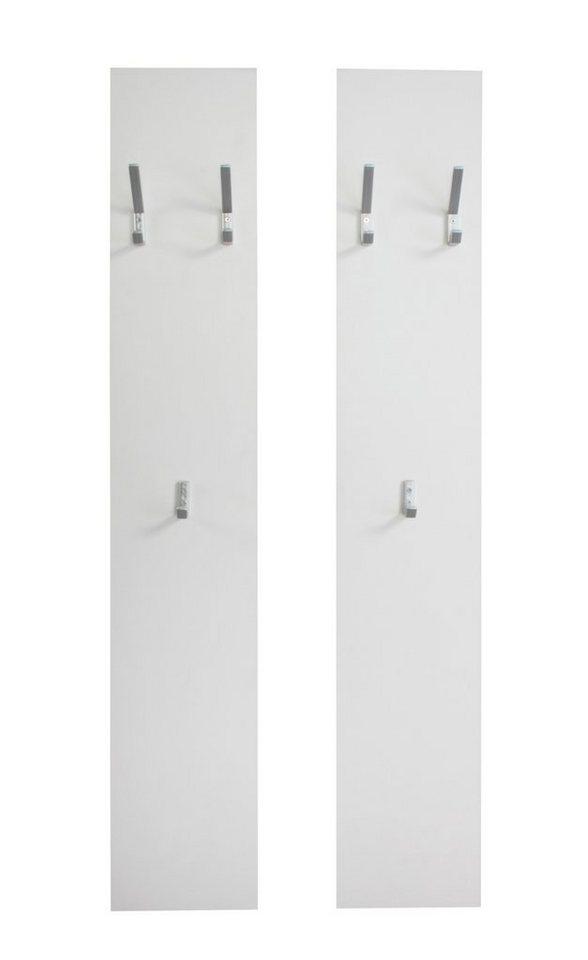 Wandpaneel »Vaasa« (2 Stck.) in weiß matt