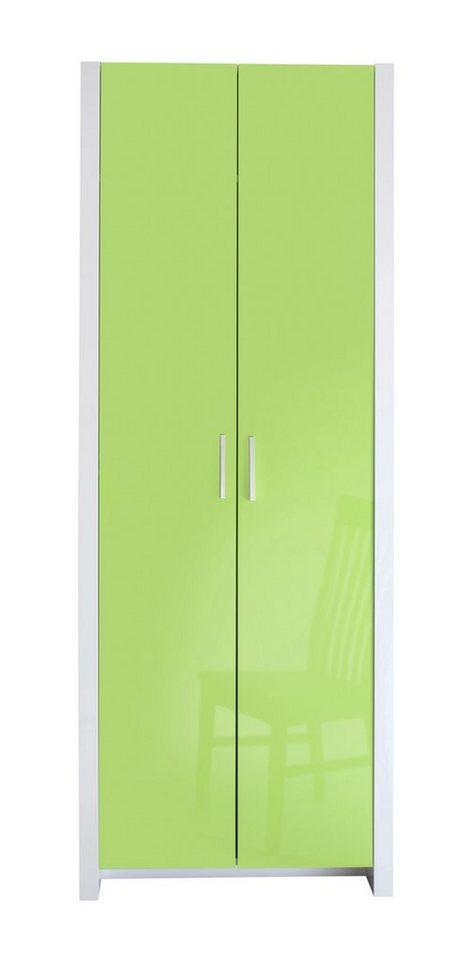 Garderobenschrank, HMW, »Space« in weiß-pistazie Hochglanz