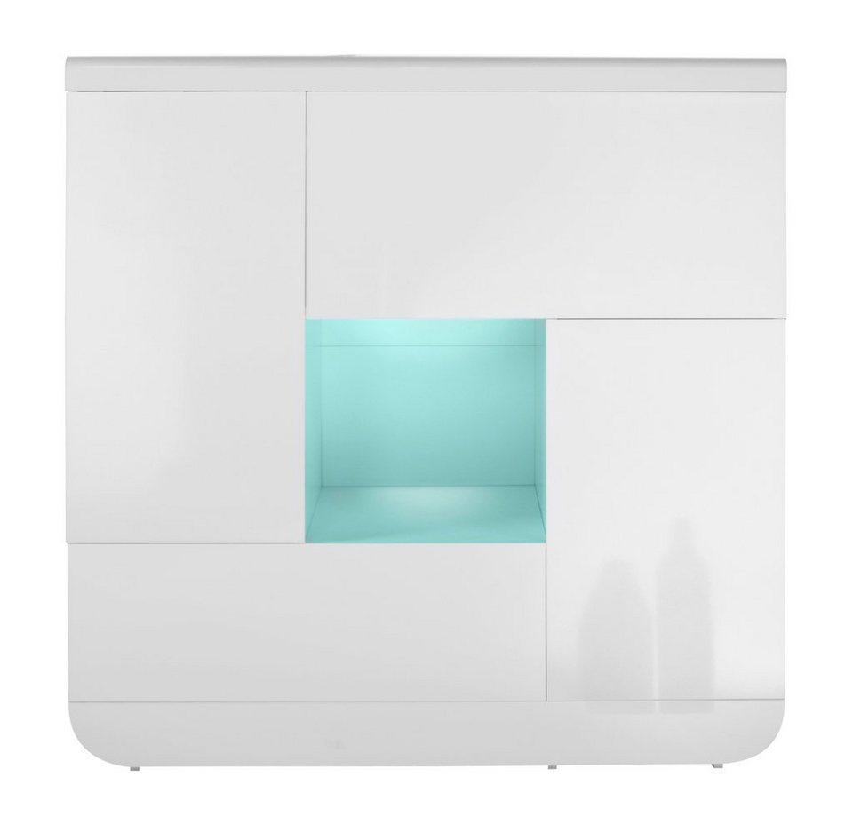 Highboard, S.C.I.A.E., »Floyd«, Breite 120 cm in weiß
