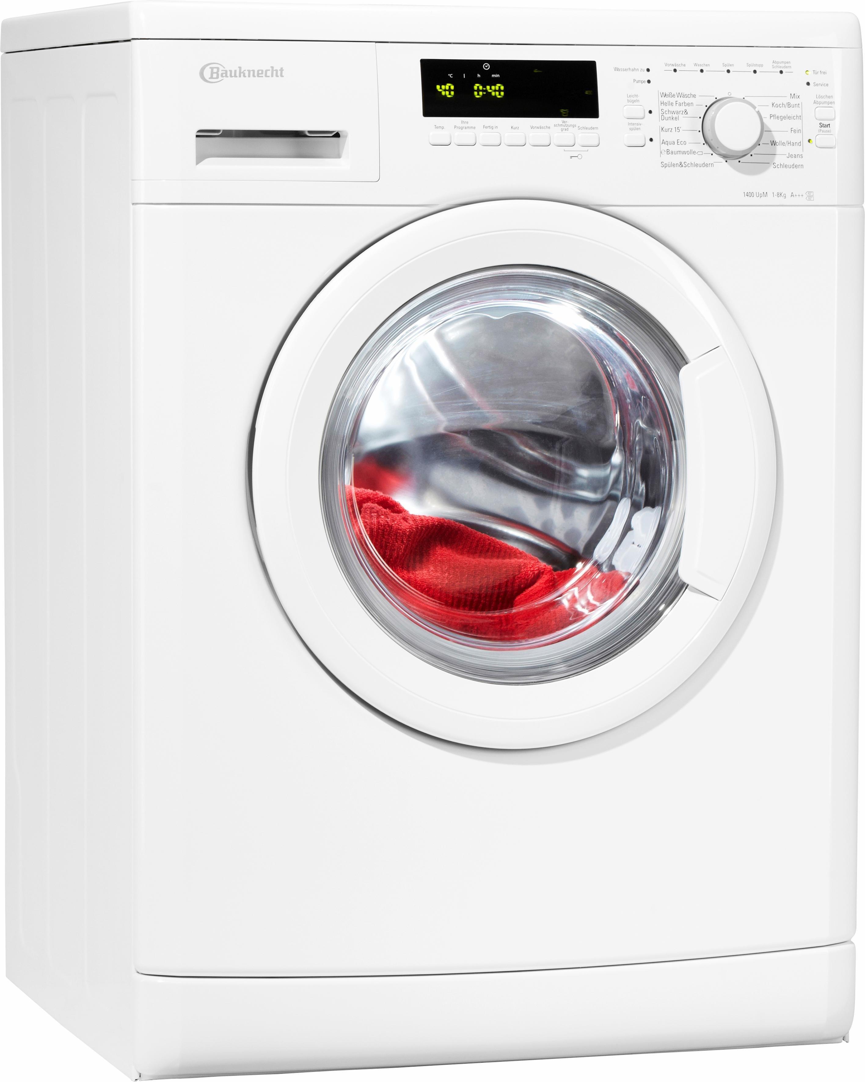 BAUKNECHT Waschmaschine WA PLUS 844 A+++, A+++, 8 kg, 1400 U/Min