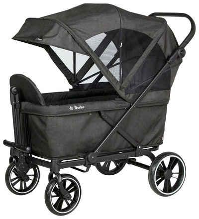 Pinolino® Bollerwagen »Cruiser Premium« (Set), BxTxH: 118x64x116 cm, inkl. Babyschalenadapter und Regenschutzhaube
