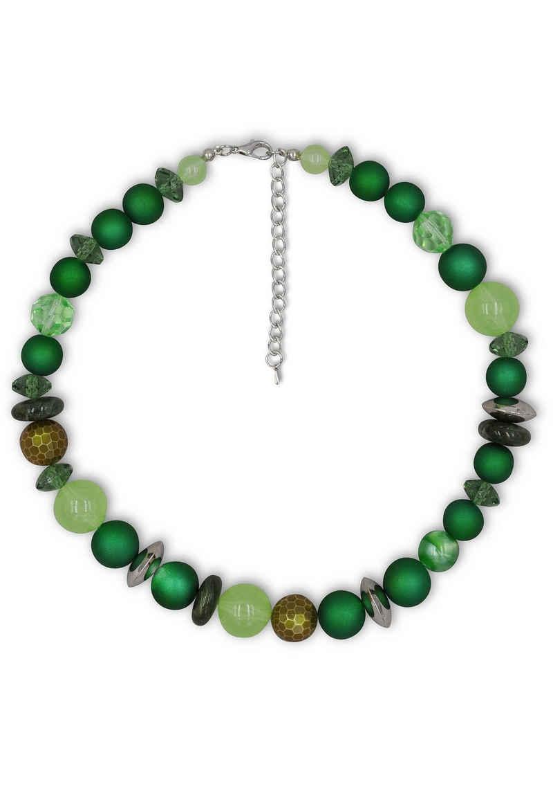 J.Jayz Collier »verschiedene Grüntöne, modern«, mit Kunststoffperlen, Made in Germany