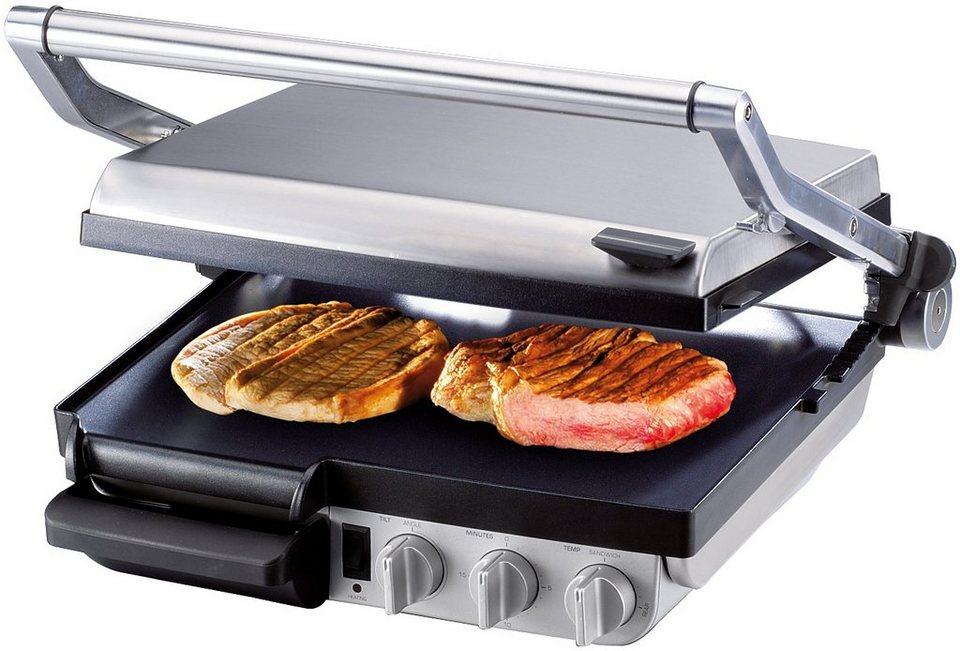 Gastroback Kontaktgrill Design Grill-Barbecue Advanced 42534, 2400 Watt in Edelstahl/schwarz