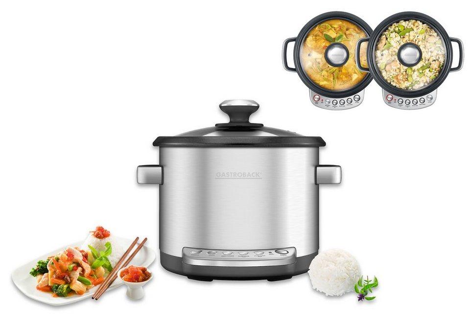 Gastroback Küchenmaschine Design Multicooker Advanced, 760 Watt, 3,7 l in Edelstahl