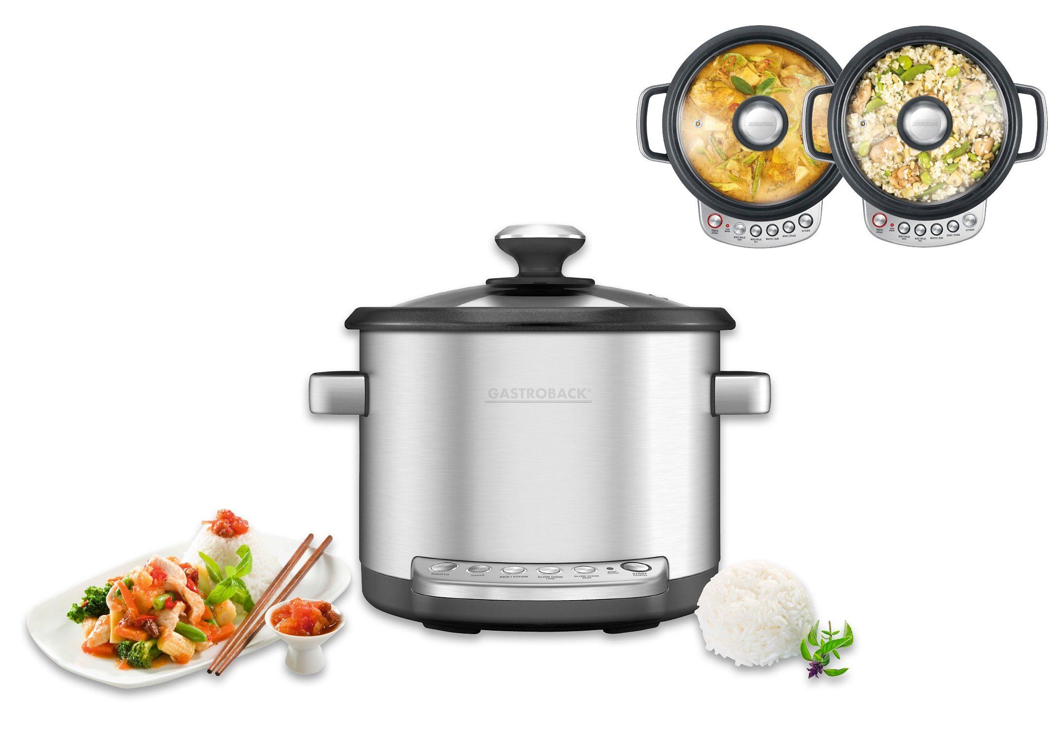 Gastroback Küchenmaschine mit Kochfunktion Design Multicooker Advanced, 760 W, 3,7 l Schüssel