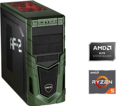 Hyrican Military Gaming 6530 Gaming-PC (AMD Ryzen 5 3400G, Radeon RX Vega 11, 16 GB RAM, 480 GB SSD, Luftkühlung)