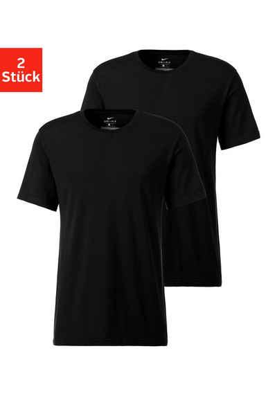 Nike Rundhalsshirt (2er-Pack) aus elastischer Qualität