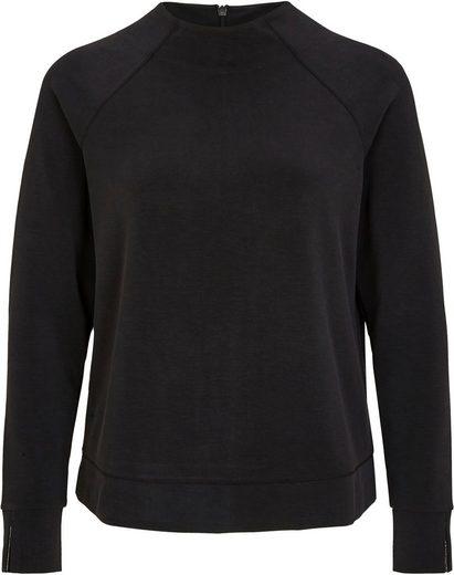 s.Oliver BLACK LABEL Sweatshirt mit hohem Rundhals-Ausschnitt und Raglanarm mit Schlitz
