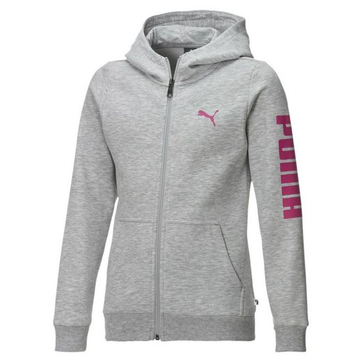 PUMA Sweater »Mädchen Fleece Sweatjacke mit Kapuze«