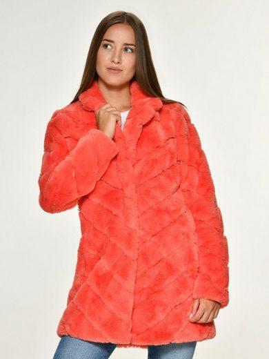 Maze knallige Fake Fur Jacke »Ladera«