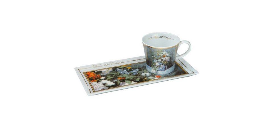 Goebel Kaffee-Set, Frühlingsblumen 2-tlg. »Artis Orbis - Art & Coffee« in Bunt