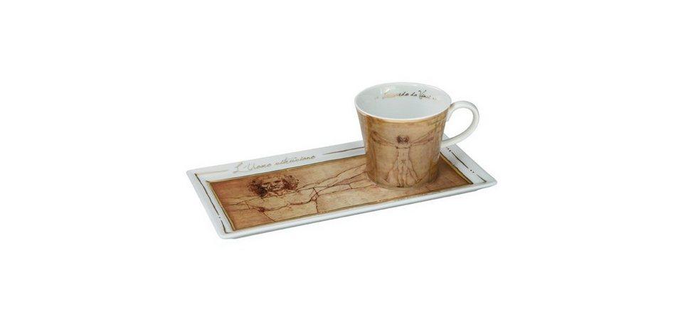 Goebel Kaffee-Set, Der vitruvianische Mensch 2-tlg. »Artis Orbis - Art & Coffee« in Bunt