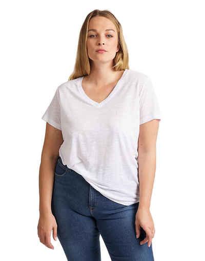 Lee® T-Shirt »V NECK TEE« (1-tlg) mit V-Ausschnitt
