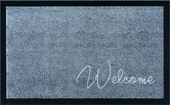 Fußmatte »Welcome«, Home affaire, rechteckig, Höhe 5 mm, mit Spruch, In- und Outdoor geeignet