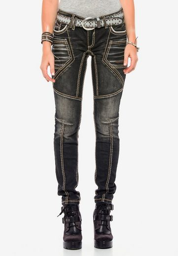 Cipo & Baxx Bequeme Jeans mit extravagantem Nahtdesign