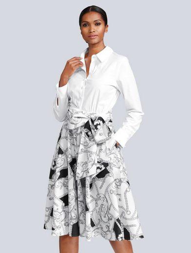 Alba Moda Kleid in modischer Blusenform