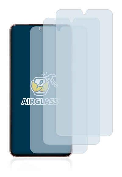 BROTECT Schutzfolie »Panzerglasfolie für Samsung Galaxy S21 5G«, (3 Stück), Schutzglas Glasfolie klar