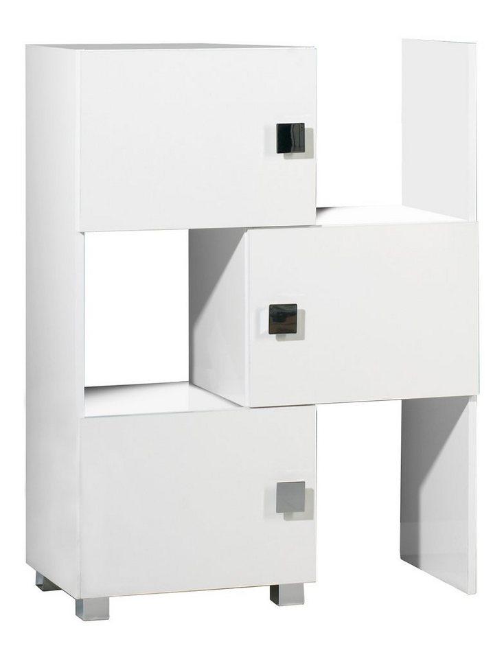 Schieberegal, Schildmeyer, »Quadra« in weiß-weiß