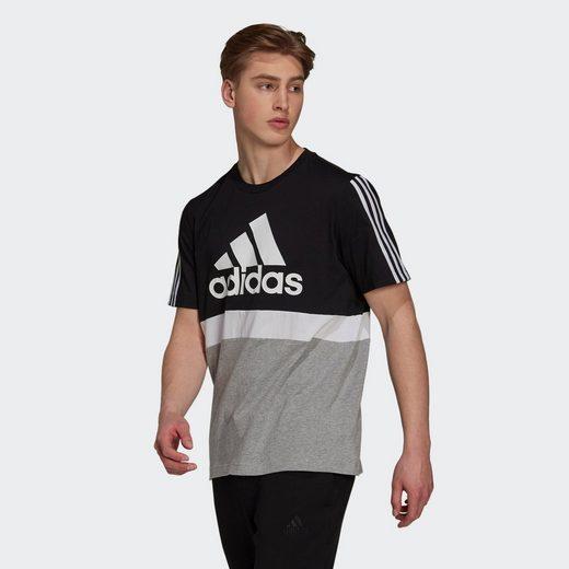 adidas Performance T-Shirt »COLORBLOCK ESSENTIALS REGULAR MENS«