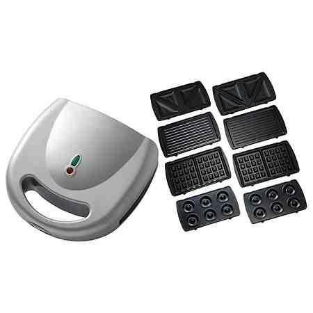 Mia Multi-Toaster SB 3193S-4, für 2 Scheiben, 750 Watt, silber