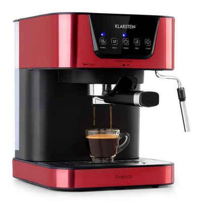 Klarstein Espressomaschine Arabica Espressomaschine 1050W 15 Bar 1,5l Touch-Bedienfeld Edelstahl
