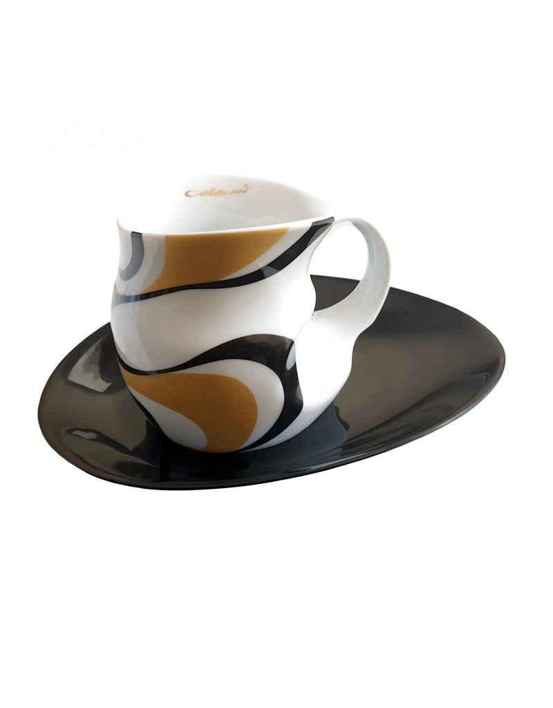 Colani Tasse »Luigi Colani Kaffee-/ Cappuccinotasse mit Untertasse«, Porzellan