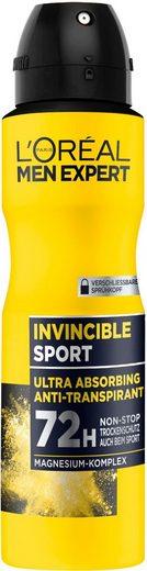 L'ORÉAL PARIS MEN EXPERT Deo-Spray »Invincible Sport Anti-Transpirant«, Zuverlässiger Deo Schutz beim Sport