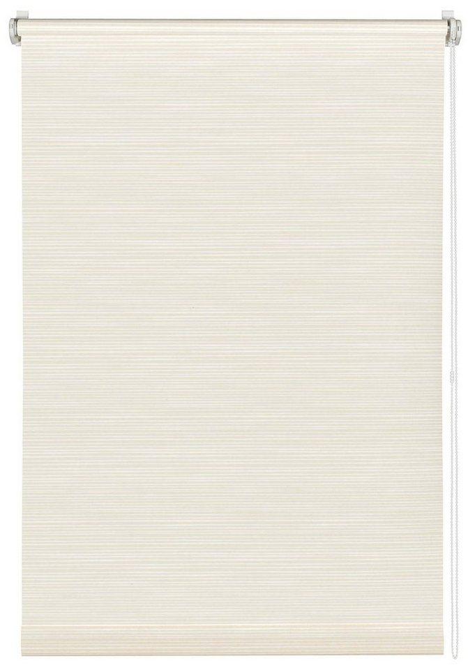 Seitenzugrollo, Gardinia, »Easyfix-Rollo«, im Fixmaß, ohne Bohren, Lichtschutz (1 Stück) in weiß/beige