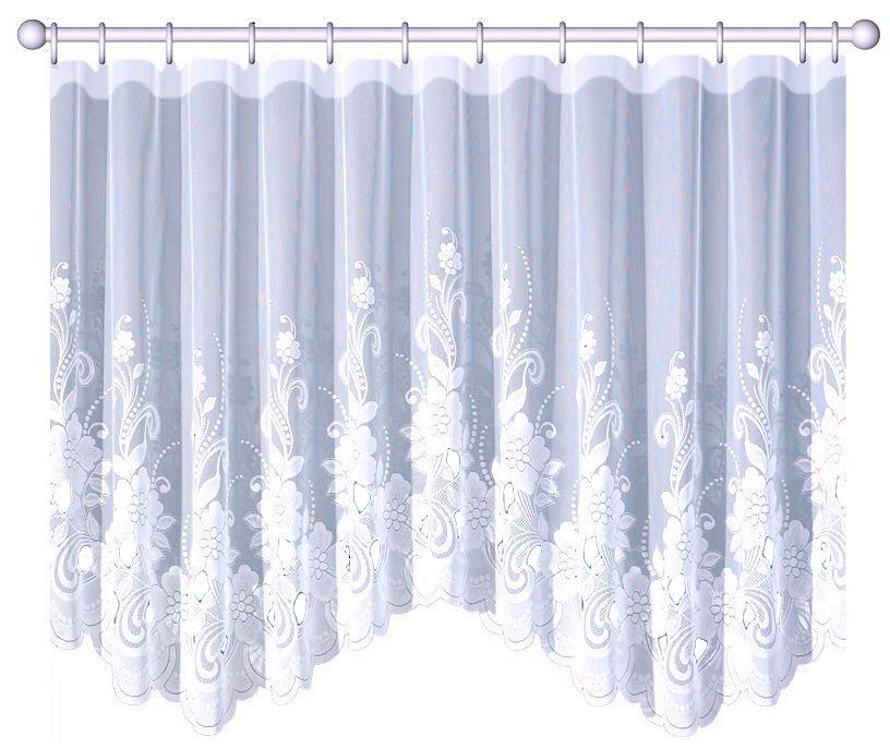 Gardine nach Maß, VHG, »Rhoda« (1 Stück) in weiß