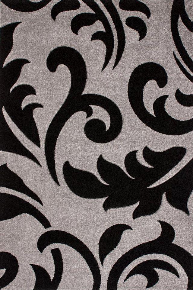 Teppich, Lalee, »Havanna 415«, handgearbeiteter Konturenschnitt, gewebt in Silber