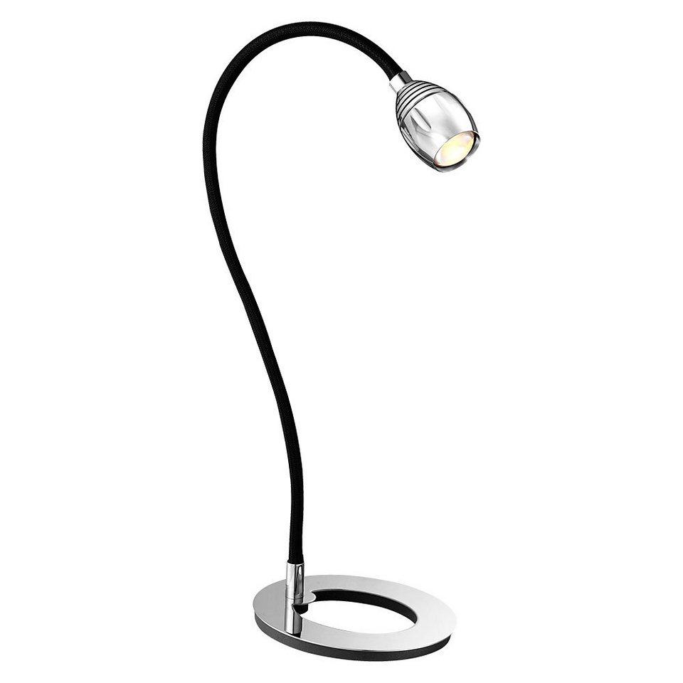 licht trend led tischlampe flexibel 5w chrom schwarz online kaufen otto. Black Bedroom Furniture Sets. Home Design Ideas
