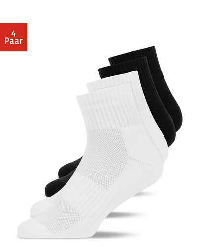 SNOCKS Laufsocken »Mid Running Socks Herren & Damen« (4-Paar)