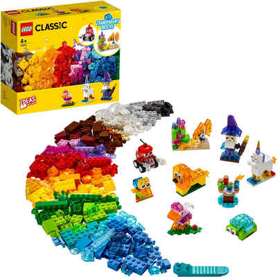 LEGO® Konstruktionsspielsteine »Kreativ-Bauset mit durchsichtigen Steinen (11013), LEGO® Classic«, (500 St), Made in Europe