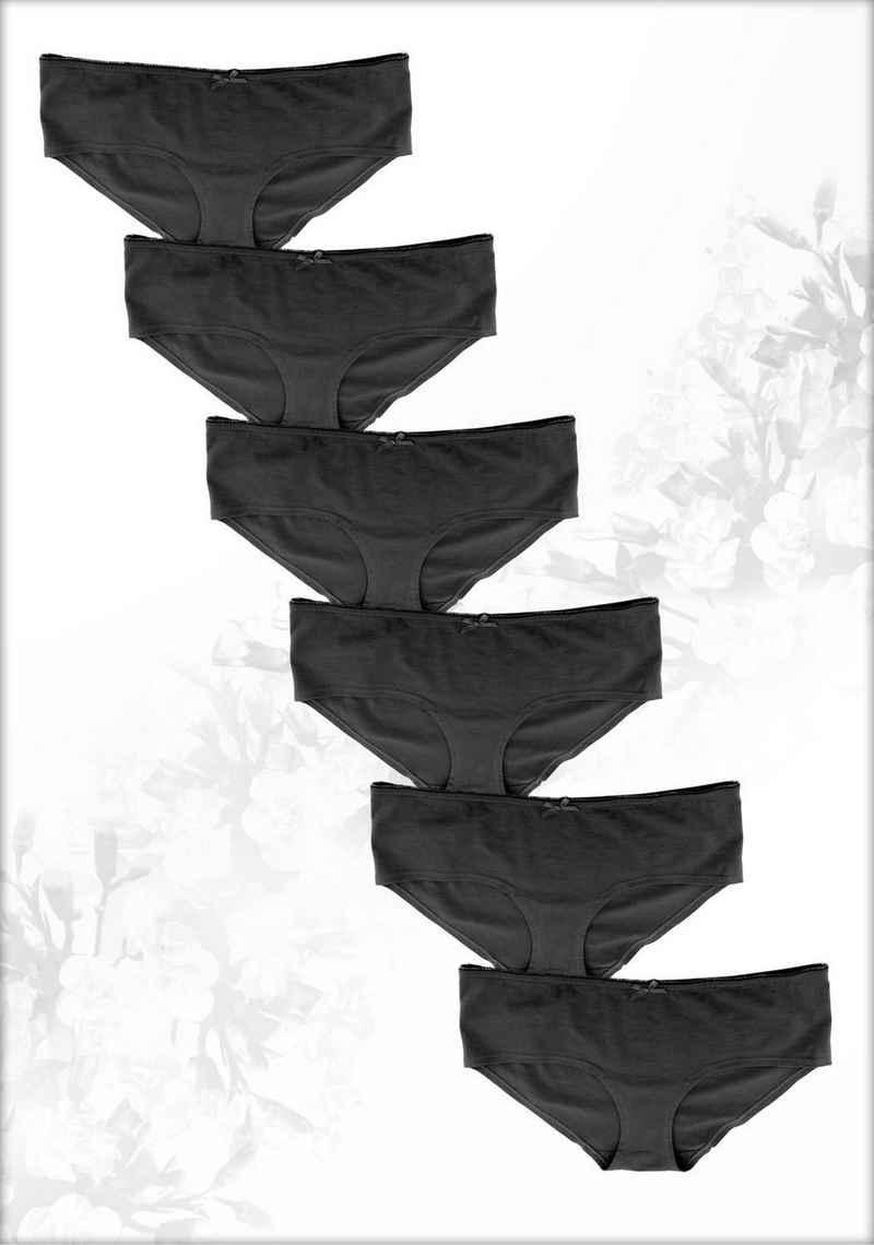 Fabio Farini Panty (6 Stück) im sportlich modernen Design mit Schleifchen