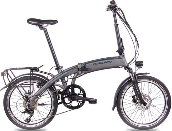 Chrisson E-Bike »EF2«, 9 Gang Shimano Sora RD-R3000 Schaltwerk, Kettenschaltung, Heckmotor 250 W