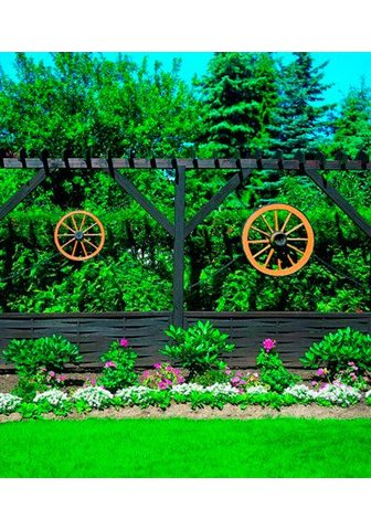 promadino Gartenfigur »Wagenrad« BxLxH: 90x22x90...