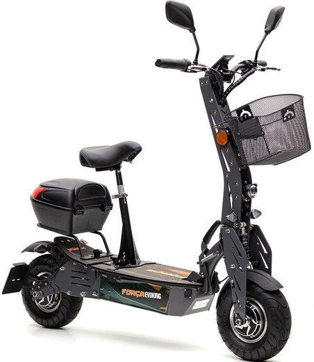 Forca E-Scooter »Evoking 20 km/h Safety (inkl. Blinker + Gepäck-Case)«, 600 W, 20 km/h