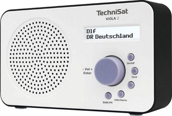 TechniSat »VIOLA 2 Tragbares« Digitalradio (DAB) (Digitalradio (DAB), UKW mit RDS, zweizeiliges Display, Batteriebetrieb möglich)