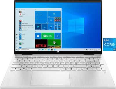 HP Pavilion x360 Convertible 15-er0200ng Convertible Notebook (39,6 cm/15,6 Zoll, Intel Core i5, Iris© Xe Graphics, 512 GB SSD)
