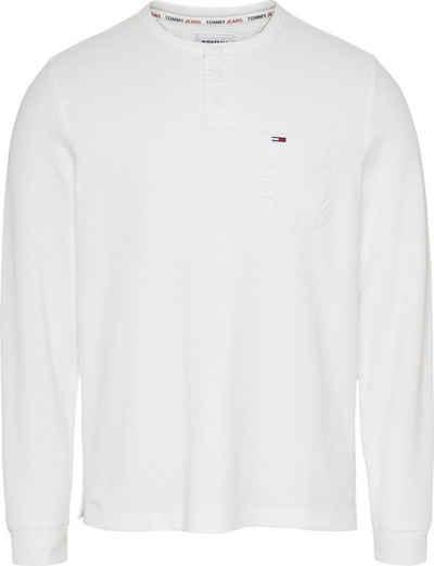 Tommy Jeans Langarmshirt »TJM WAFFLE POCKET HENLEY«